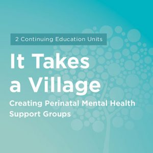 Maternal Mental Health NOW | Course It Takes a Village Creating Perinatal Mental Health Support Groups
